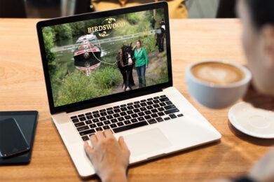 Birdswood Canal Boat web design case study laptop mockup